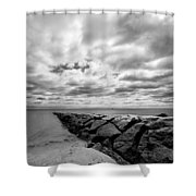 Dramatic Sky At Penfield Jetty Shower Curtain