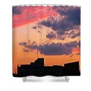 Dramatic Sky Dwarfs Halifax Skyline Shower Curtain