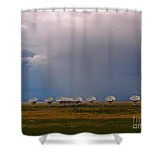 Dramatic Sky Over The Very Large Array Shower Curtain