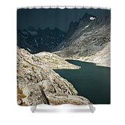 Dramatic Storm Clouds Gather Shower Curtain