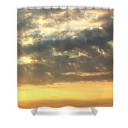 Dramatic Sunglow Shower Curtain