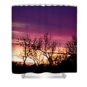 Dramatic Sunrise-l Shower Curtain