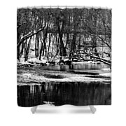 Dramatic Waterway Shower Curtain