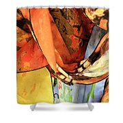 Draped Scarves Shower Curtain