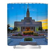Draper Temple 1 Shower Curtain