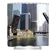 Draw Bridges Of Chicago Shower Curtain