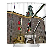 Drawbridge And Tower In Enkhuizen-netherlands Shower Curtain