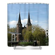 Drawbridge - Delft - Netherlands Shower Curtain
