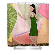 Drawing Back The Veil Shower Curtain