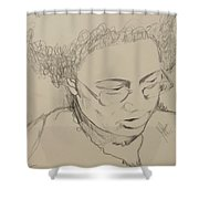 Drawing Of A Woman Shower Curtain