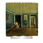 Drawing Room With Columned Entresol  Shower Curtain