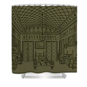 Drawing Room With Egyptian Decoration Shower Curtain