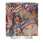 Drawings Shower Curtain
