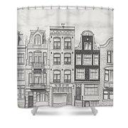 Drawn To Amsterdam Shower Curtain