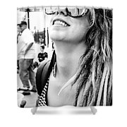 Dreadfully Happy In Nola Shower Curtain