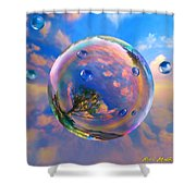 Dream Bubble Shower Curtain by Robin Moline