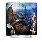 Dream Catcher - Freedom's Flight Shower Curtain