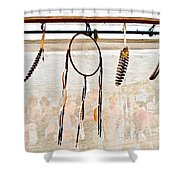 Dream Catcher Raw Shower Curtain