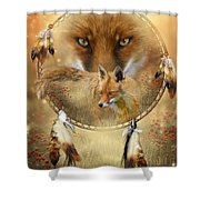 Dream Catcher- Spirit Of The Red Fox Shower Curtain