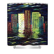 Dream City Shower Curtain