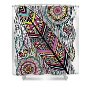 Dream Feather Shower Curtain