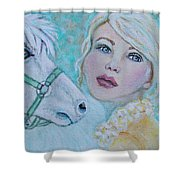 Dream On Dreamer Shower Curtain by The Art With A Heart By Charlotte Phillips