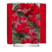 Dream Red 5232 Shower Curtain