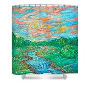Dream River Shower Curtain