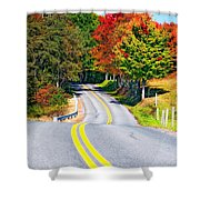 Dream Road Shower Curtain