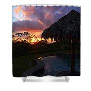 Dream Sunset In Costa Rica Shower Curtain