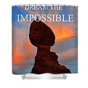 Dream The Impossible Card Poster Two Shower Curtain