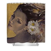 Dream Traveler Shower Curtain by Dorina  Costras