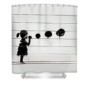 not B A N K S Y  Shower Curtain