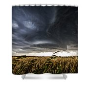 Dreamcatcher - Scenic Storm Over Kansas Plains Shower Curtain
