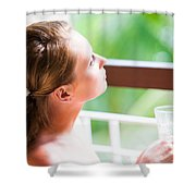 Dreaming Shower Curtain by Jenny Rainbow