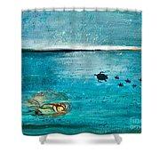 Dreaming Mermaid Shower Curtain