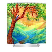 Dreaming Of Bluebells Shower Curtain