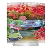 Dreaming Of Fall Bridge In Manito Park Shower Curtain