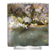 Dreaming Of Forget-me-nots Shower Curtain