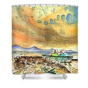 Dreaming Of Sailing In Lanzarote Shower Curtain