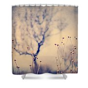 Dreaming Tree. Vintage Shower Curtain