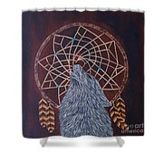 Dreaming Wolf Shower Curtain