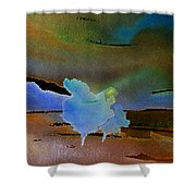 Dreams Of Blue Trees Shower Curtain