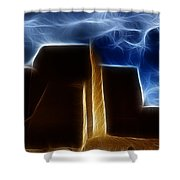 Dreamtime Adobe Shower Curtain