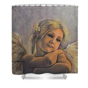 Dreamy Angel Shower Curtain
