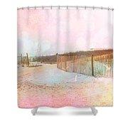 Dreamy Cottage Summer Beach Ocean Coastal Art Shower Curtain
