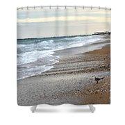 Dreamy Ocean Beach North Carolina Coastal Beach  Shower Curtain by Kathy Fornal