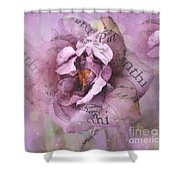 Dreamy Purple Lavender Impressionistic Abstract Floral Art Photography Shower Curtain