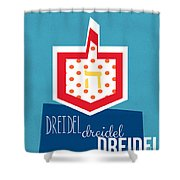 Dreidels Shower Curtain by Linda Woods