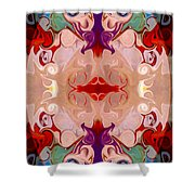 Drenched In Awareness Abstract Healing Artwork By Omaste Witkows Shower Curtain